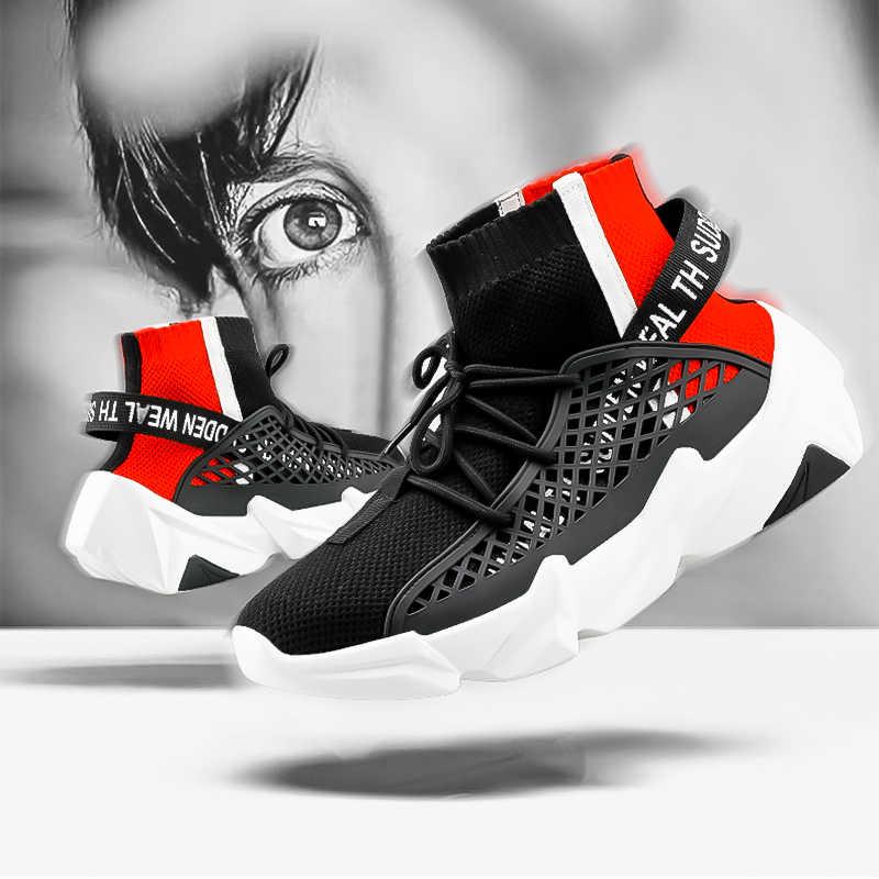 UTENAG נעליים יומיומיות נוח אופנה סניקרס לגברים נעלי מותג Tenis Masculino Adulto פנאי הנעלה Zapatillas Hombre