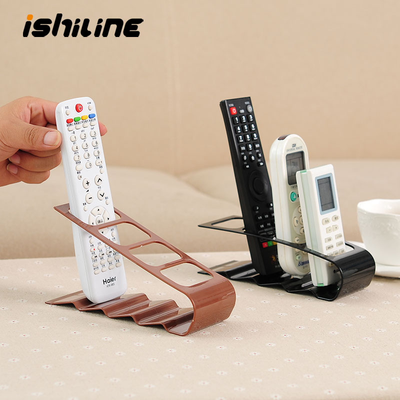 Creative Four-Grid TV Air Conditioner <font><b>Remote</b></font> Control Storage <font><b>Rack</b></font> Plastic Desktop Mobile Phone <font><b>Rack</b></font> Storage Seat Organizer image