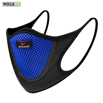 WOSAWE Motorcycle Face Mask Anti-pollution Dust Breathable Reusable Washable Mask Sports Unisex Motorcycle Protective Mask