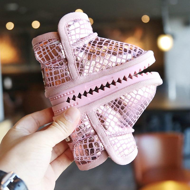 Sequins Non-Slip Soft Bottom Cotton Boots 3