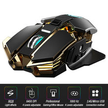 Ergonomic 2.4GHz Wireless Gaming Mouse Office Computer-Mause Laptop Optical Professional 6400DPI For PC