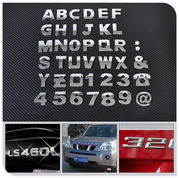 Car auto DIY Letter Alphabet number Stickers Logo for Honda Pilot Insight HR-V CR-V Odyssey Jazz Fit Sports Ridgeline image