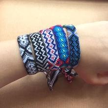 1 шт плетеный браслет дружбы в этническом стиле
