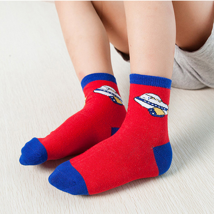 Autumn And Winter Stripe Spell Color Two-Branched Children's Socks Combed Cotton Children Tube Socks Men And Women Students Sock
