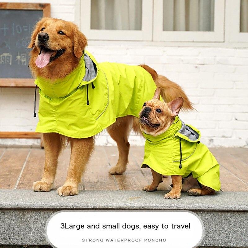 Дождевик для собак, одежда для собак, водонепроницаемый нейлоновый, с золотистыми волосами, дождевик, высокое датский плащ для собак, кошек