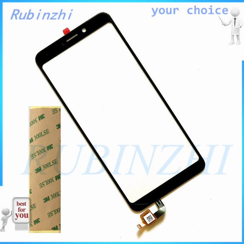 RUBINZHI + Tape Moible Phone Touchscreen Glass Panel For <font><b>BQ</b></font> <font><b>BQ</b></font>-6015L Universe 6015L BQS <font><b>6015</b></font> Touch Screen Digitizer Sensor Panel image