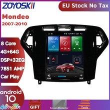 Автомобильный мультимедийный проигрыватель с вертикальным экраном, Android 10 дюймов, в стиле Тесла, gps, радио, Bluetooth, навигация, проигрыватель дл...