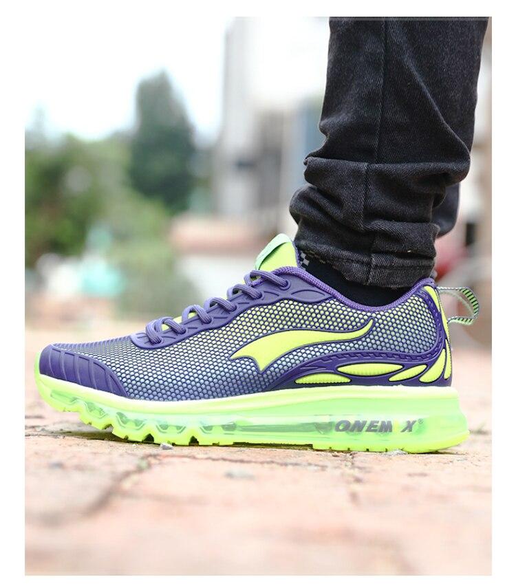 Купить с кэшбэком ONEMIX 2020 Autumn Men's Running Shoes Women Breathable Man Athletic Trekking Shoes For Outdoor Anti-slip Warm Walking Sneakers
