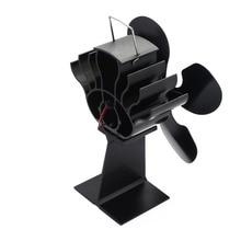 Hot 4-Blade Heat Powered Stove Fan for Wood / Log Burner/Fireplace- Eco