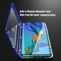 Étui pour Huawei magnétique de protection complète de luxe P30 Pro P20 Mate 20 Pro 360 couvercle arrière en verre trempé Huawei P30Pro
