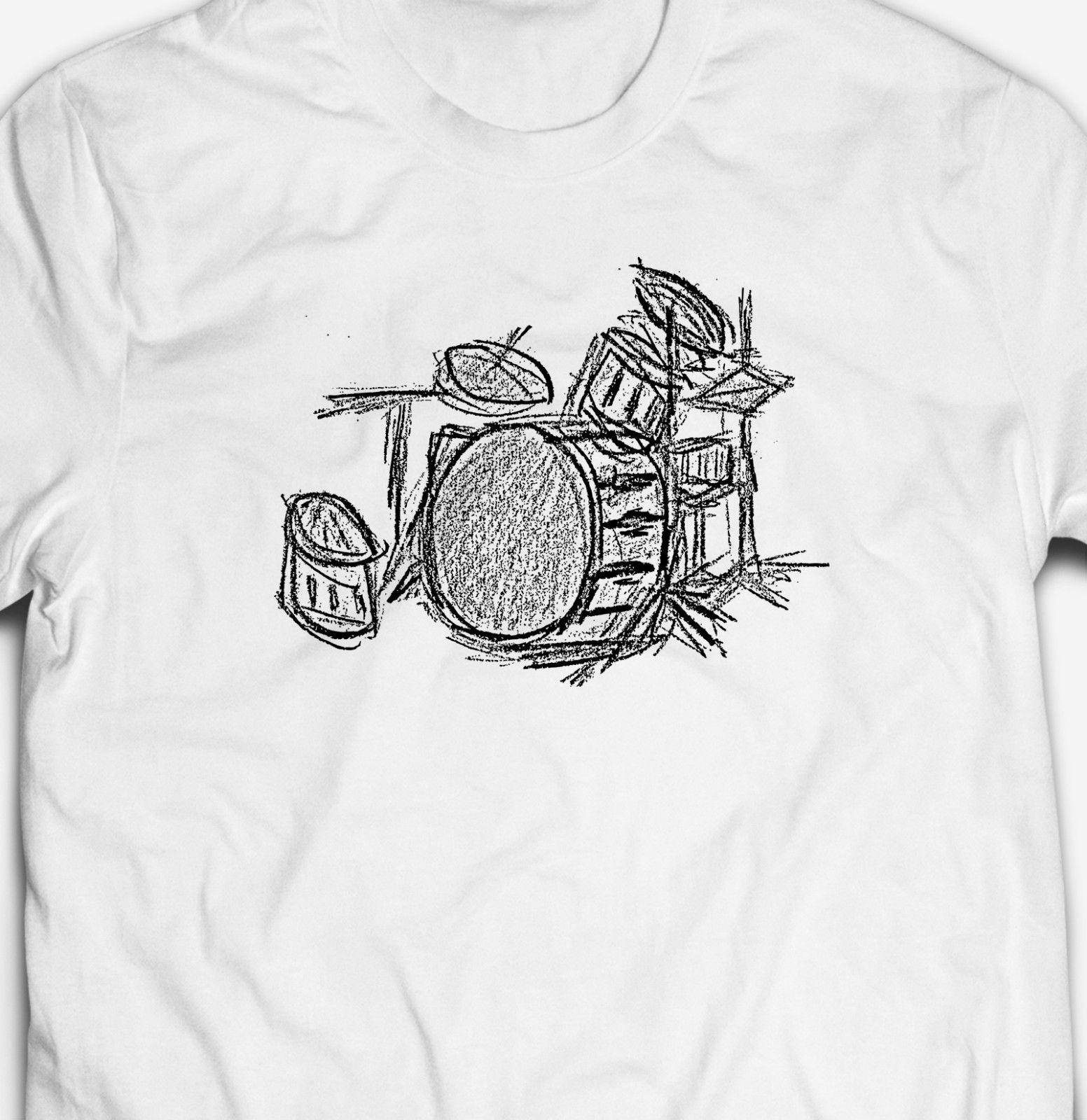Official Premier Drums Vintage Flag T-Shirt Michael Schumm John Keeble Drum Kit