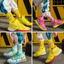 Sponge Socks Bob Women Short Socks Crew Long Basketball