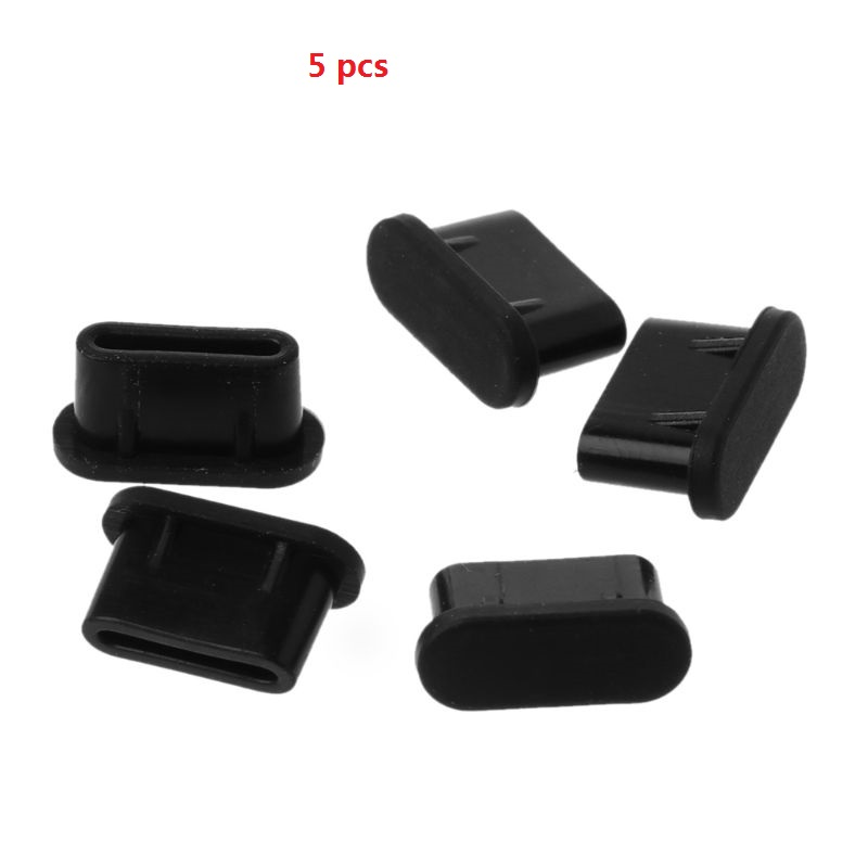 5PCS Type-C Dust Plug USB Charging Port Protector Silicone Cover for Samsung Huawei Smart Phone Accessories