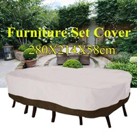 Garden Waterproof Table Cover Outdoor Patio Furniture Cover Shelter Shade Polyester Protection Cover All-Purpose 280x214x58cm