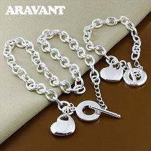 Наборы свадебных ювелирных изделий 925 серебро сердце любовь