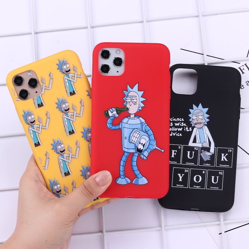 Rick And Morty Funny Cartoon Comic Memes Phone Cover For iPhone 11 Pro Max X XS XR Max 7 8 7Plus 8Plus 6S SE Soft Silicone Case image