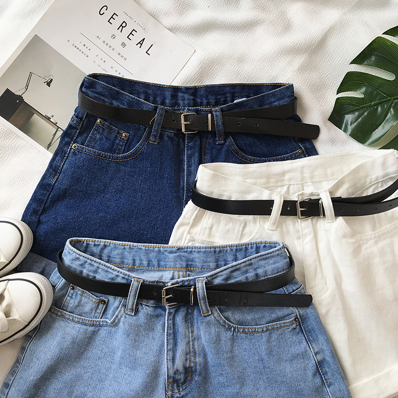 Hd6090c33d8a54e8c82c7bb2440eb1f8d2 - Women Summer Shorts Fashion Free Belt High Waist Loose Casual Slim Denim Shorts Women Shorts Jeans mujer femme Korea Shorts