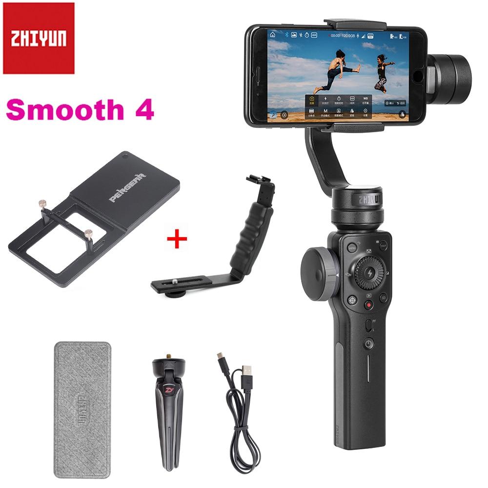 Zhiyun スムーズ 4 ハンドヘルド 3 軸ズーム機能ハンドヘルドジン iphone × 8 1080P 8 サムスン S9 s8 Huawei 社 P20 Xiaomi 6  グループ上の 家電製品 からの 手持ちジンバル の中 1