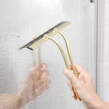 Тряпка-щетка для очистки окон и стекол, Золотая щетка-водосгон для окон и стекол, скребок для ванной комнаты, очиститель, инструмент для очистки с крюком