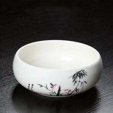 Writing brush washer pot  kung fu tea set accessories ceramic washing cup tea wash bowl painting brush wash plant hydroponics