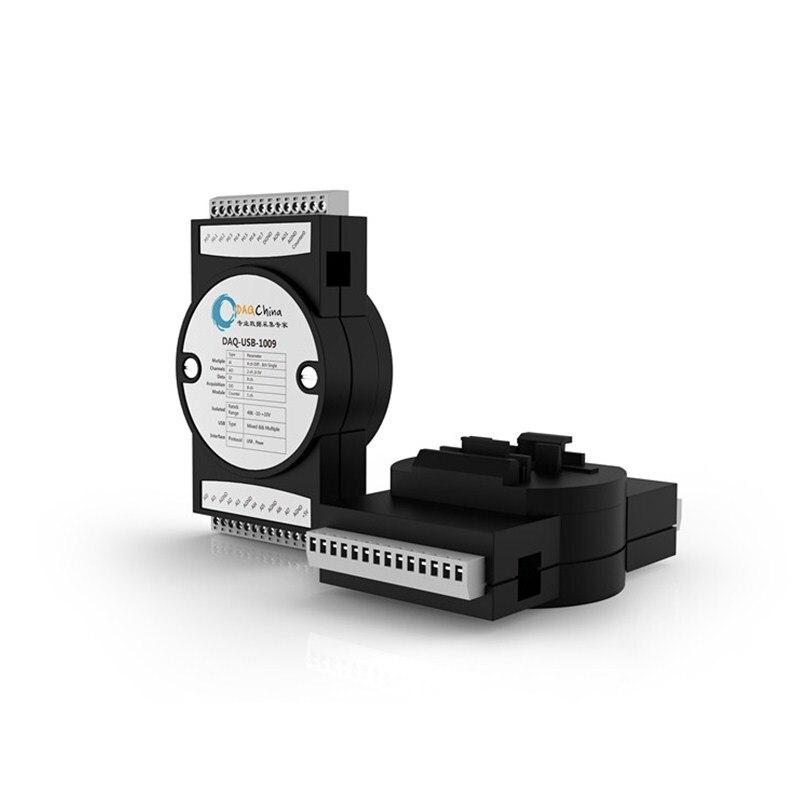 DAQ-USB-6009 Data Acquisition Card DAQ 8-channel 14-bit 8AD 48k Real-time 2DA 8DI/DO The Labview Replace NI USB-6009
