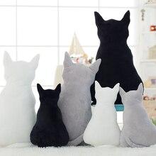 MO-OD, Новое поступление, удобные плюшевые подушки в форме кошки, большая подушка в форме спины, кошка, щенок, плюшевая игрушка, подушка, кукла, детский подарок, домашний декор