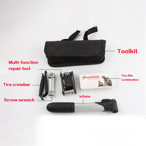 Image 2 - HOT Sale Bicycle Tool Bag Multi function Folding Tire Repair Kits Multifunctional Kit Set With Pouch Pump for Bike Bicycle