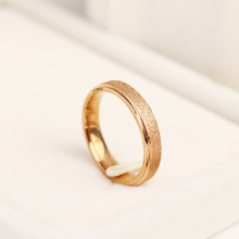 Женское Винтажное кольцо из матовой нержавеющей стали CACANA, обручальные кольца золотого/розового/серебристого цвета, свадебные подарки, юве...