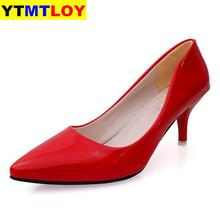 Pumps Women Shoes Pointed Toe Red Bottom High Heels Patent L