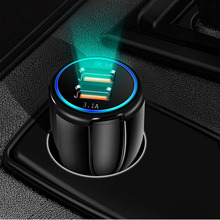 Redgiko QC 3.0 Car Charger For Xiaomi Huawei iPhone X 8 7 6 Samsung Dual USB Quick Charge Car-Charger