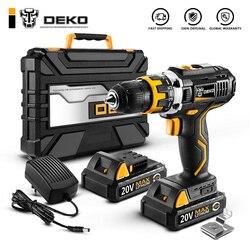 DEKO GCD20DU2Y 20 Вольт макс Электрическая отвертка аккумуляторная дрель мини беспроводной драйвер питания постоянного тока литий-ионный аккумул...