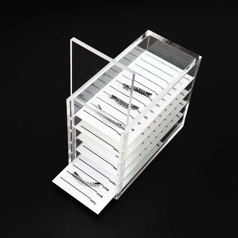 5 Layers Acrylic Eyelash Storage Box Makeup Display Container Eyelashes Glue Pallet Holder Case Grafting Eyelash Transparent Box