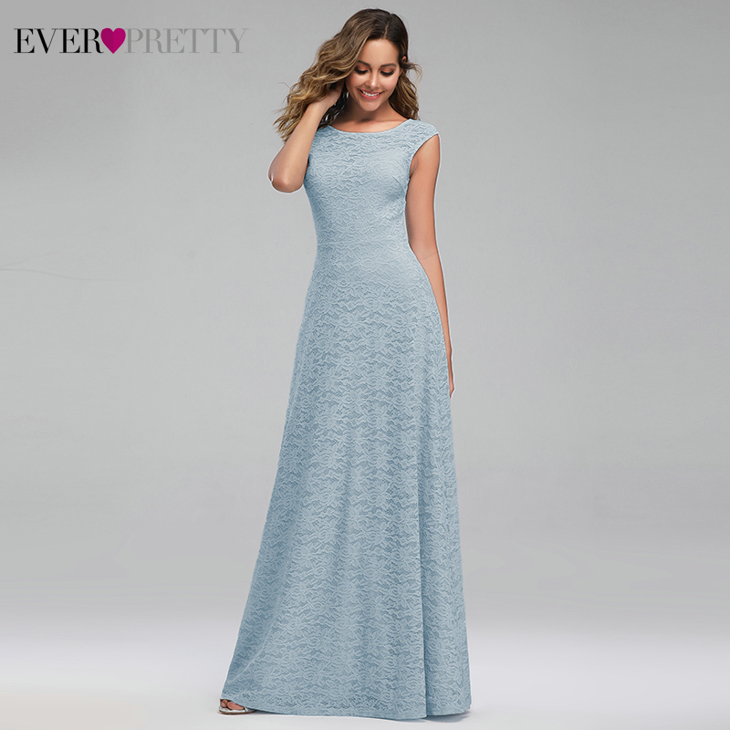Elegant Lace Bridesmaid Dresses Ever Pretty A-Line O-Neck Sleeveless See-Through Wedding Guest Dresses Vestidos Fiesta Boda