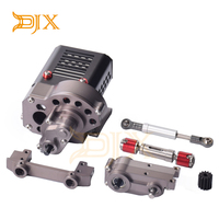 DJX CNC Complete Front Gearbox Transmission Box with Gear for Axial SCX10 1/10 RC Crawler Car