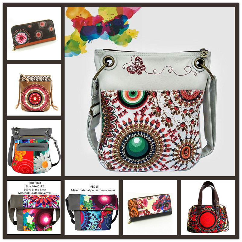 Famous Brand Spain Bags For Women 2019 Women Leather Handbag Women Messenger Bags Printing Shoulder Bag Female Shopping Bag