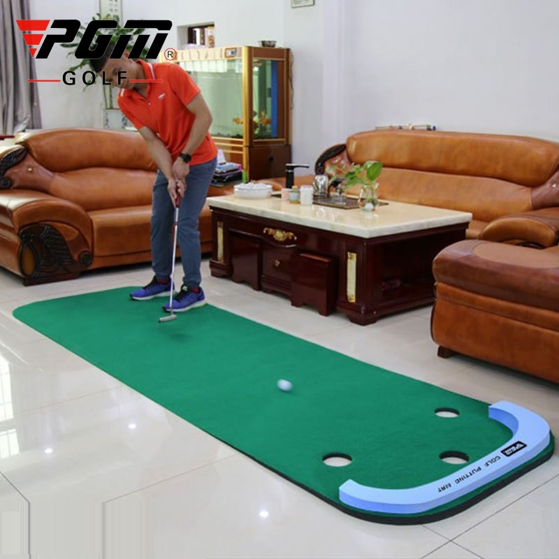 PGM Golf Putter Putting Trainer Indoor Mini Golf Equipment Training Aids Green Fairway Practice Exercises Blanket Kit Mat D0894