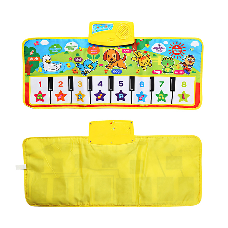 Game Carpet Baby Blankets Children Color Animal Baby Piano Musical Touch Listen Sing Gym Carpet Mat Toy Music Gift Carpet