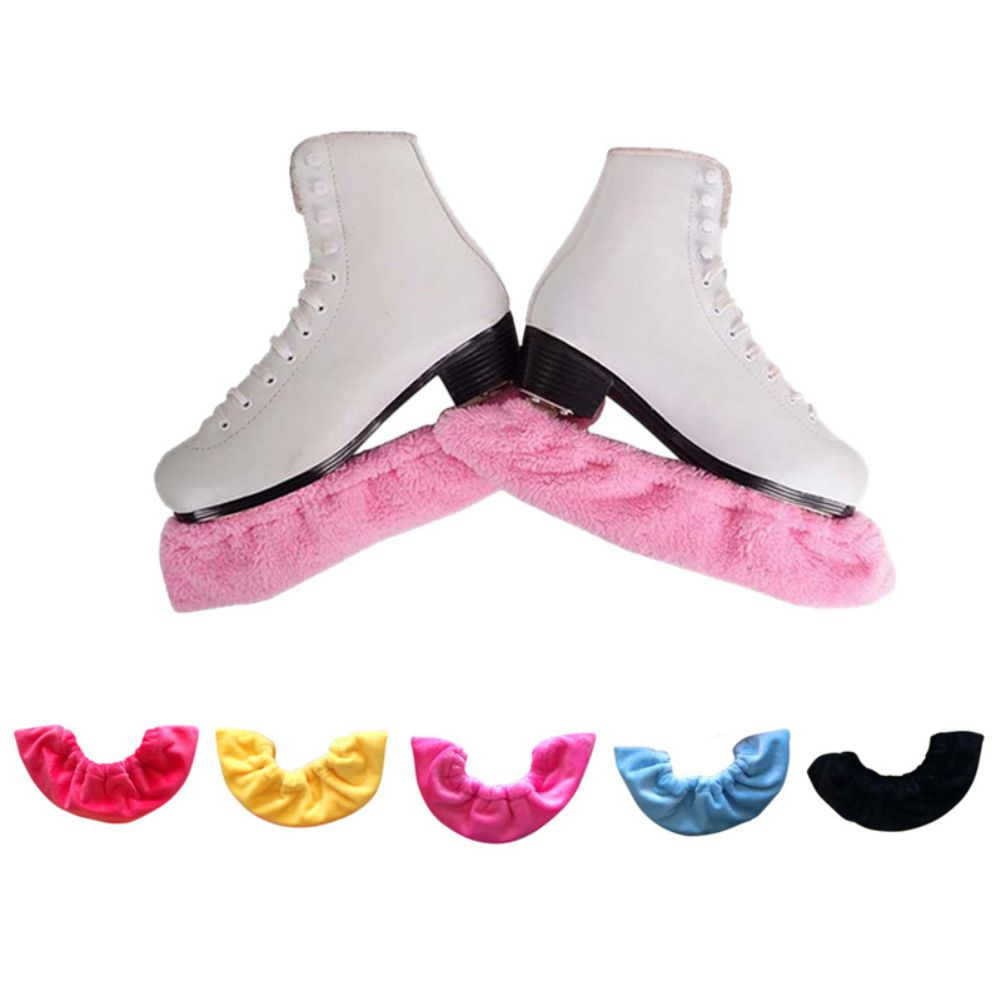 2 Pcs Figure Skates Frame Protective Cover Velvet Soft Ice Knife Blade Cover Hockey Skates Water Absorption Antirust Guard