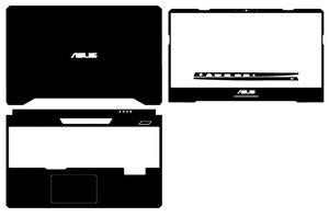 Vinilo de carbono para portátil, funda adhesiva para ASUS TUF Gaming FX505 FX505DD FX505DT FX505DU FX505DV FX505DY FX505GE FX505GD 15,6