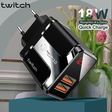 Phone-Adapter Usb-Charger Twitch Xiaomi Huawei Samsung 18W for 11 XR Qc-3.0 Led-Display
