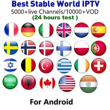 IPTV Subscription Sports French Spain Arabic Germany Italy for Android Smart TV Box H96 X96 X92