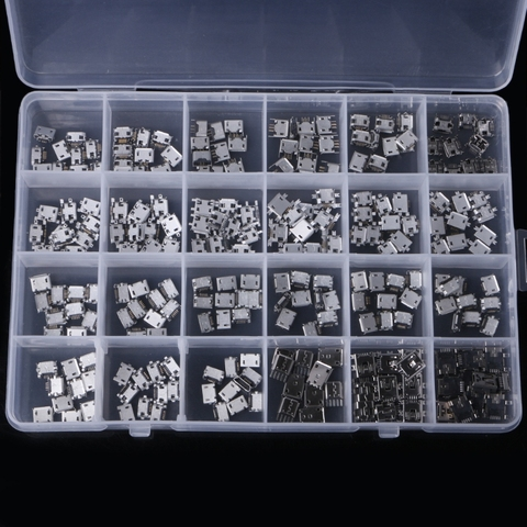 240 pcs caixa 24 modelos micro conector
