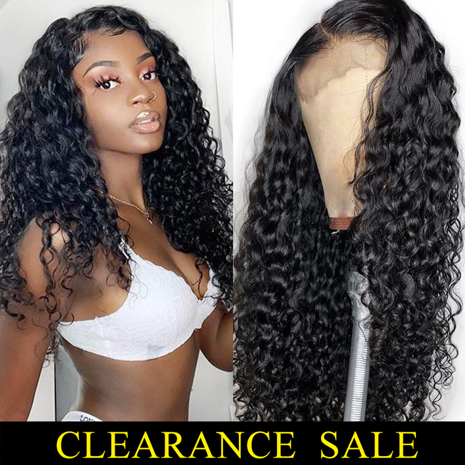 Brazilian Hair Water Wave 13x4 Lace Front Human Hair Wigs With Baby Hair Pre Plucked For Black Women Braided Up 150% Remy Hair