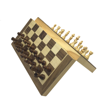 New Magnetic Chess Wooden Checker Board Solid Wood Pieces Folding High-end Puzzle Game Yernea