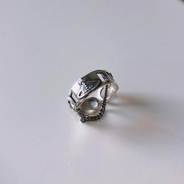 Фото leouerry 925 пробы серебряное винтажное кольцо с планетами и цена