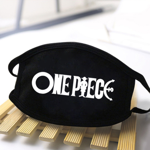 Men's One Piece Luffy Print Anti Dust Masks kpop Dustproof Reusable Mouth Muffle Masks Washable Black Polyester Mask 2020 masque