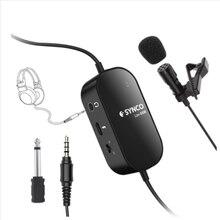 SYNCO Lav-S6M Lavalier – Microphone à Clip, Microphone à revers avec contrôle Audio 3.5mm, câble de 6M, micro à condensateur omnidirectionnel, Support USB