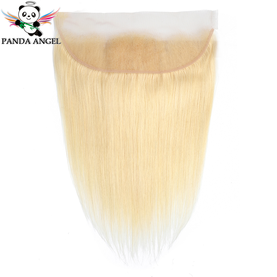 Panda Angel 613 Blonde Indian Straight 13*4 Lace Frontal Closure Middle/Free/Three Part Remy Blonde Human Hair Lace Closure image