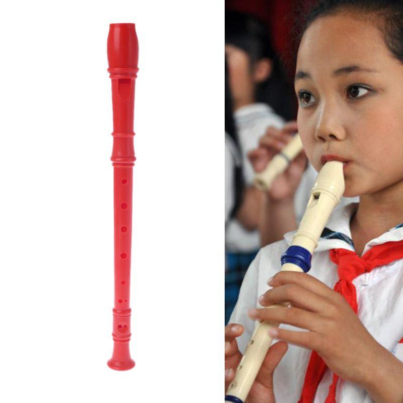 Пластиковый инструмент с 8 отверстиями, музыкальный видеорегистратор сопрано с длинной канавкой