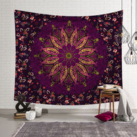 Tapeçaria de parede de poliéster  padrão de mandala  cobertor boêmio  moderno  2019